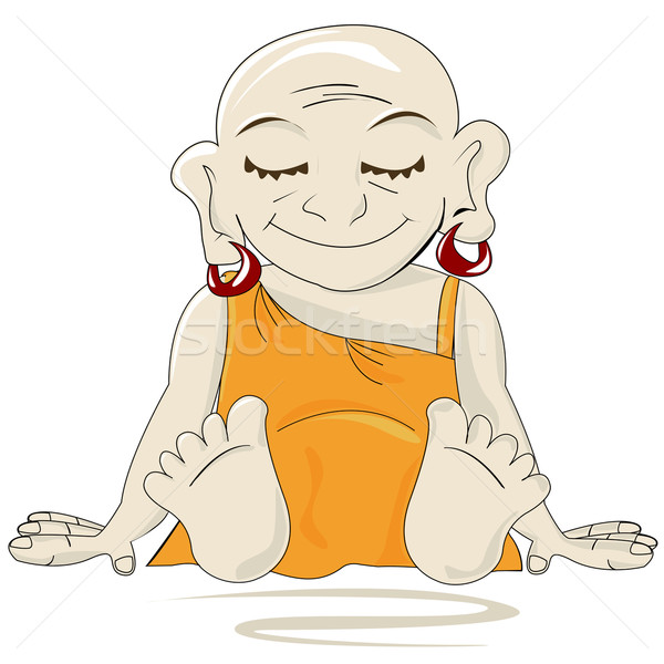 Weinig buddha hoofd god gebed asia Stockfoto © lirch