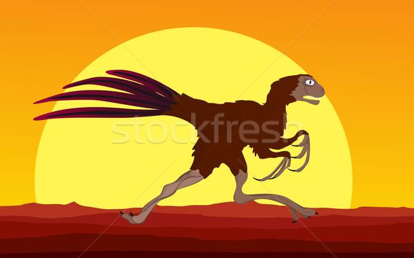 Dinosaur background 6 Stock photo © lirch