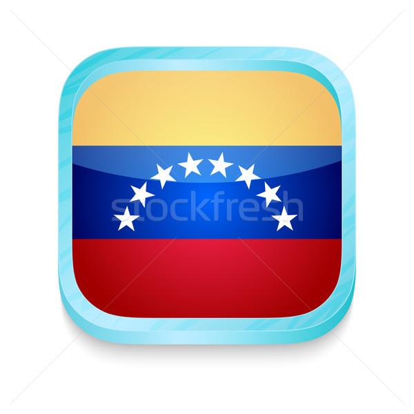 Smart phone button with Venezuela flag Stock photo © lirch