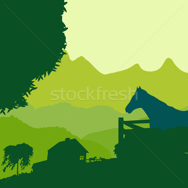 farm landscape Stock photo © lirch