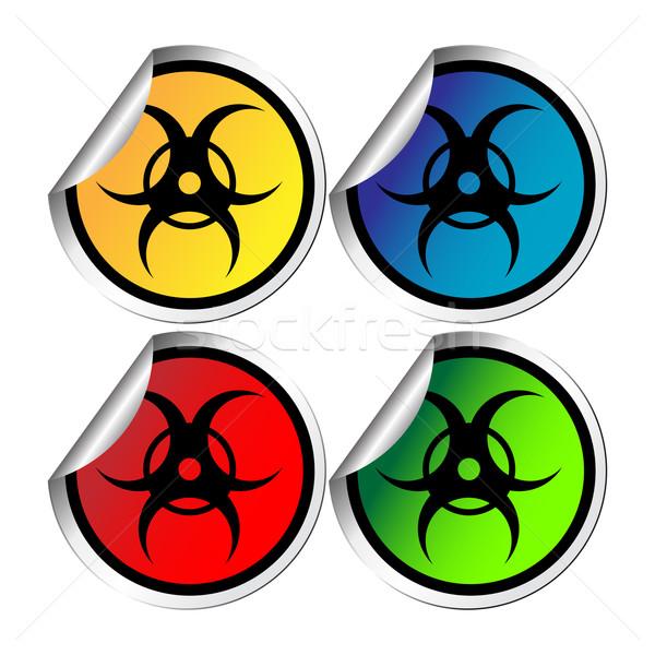Radiation warning stickers Stock photo © lirch
