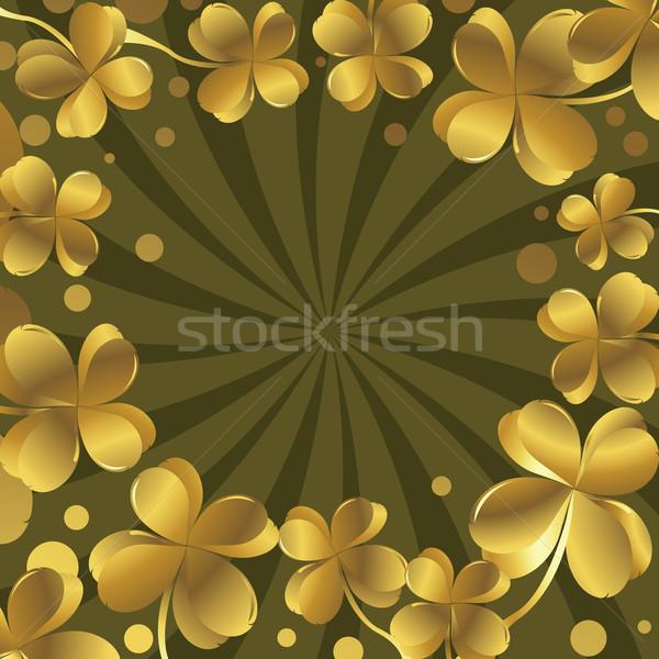 Shamrock primavera abstrato natureza folha arte Foto stock © lirch