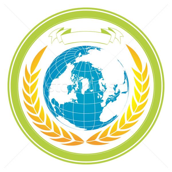 A globe stamp Stock photo © lirch