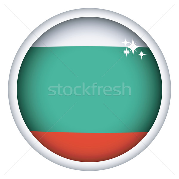Bulgarian flag button Stock photo © lirch