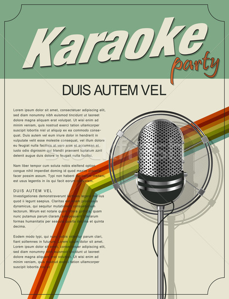 Karaoke poster Stock photo © lirch