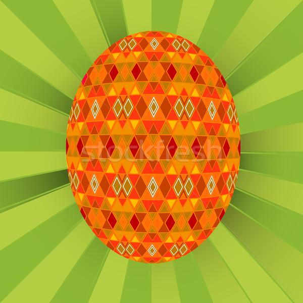 Gekleurd ei groene Pasen textuur ontwerp Stockfoto © lirch
