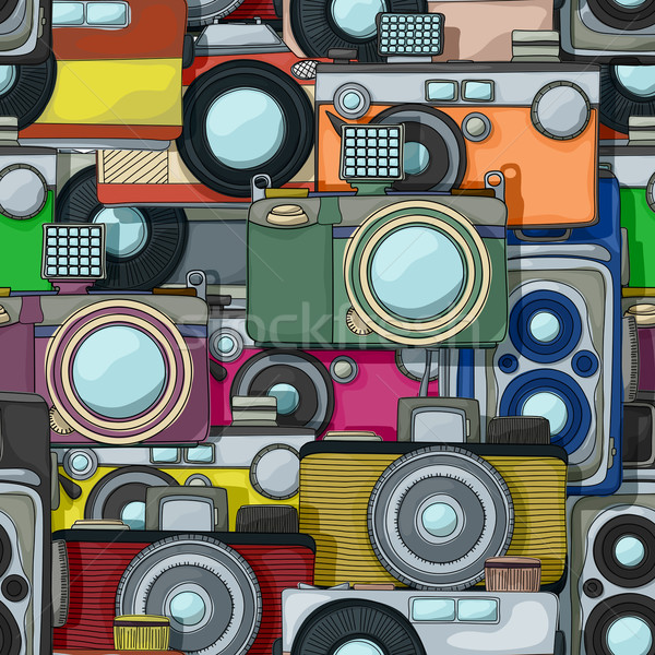 Vintage camera pattern Stock photo © lirch