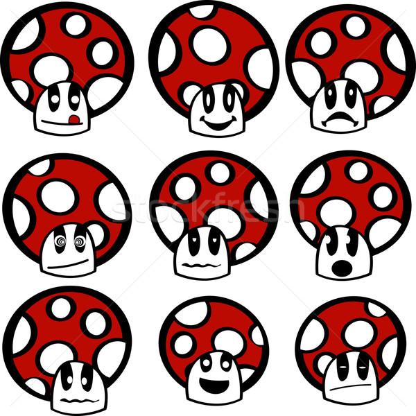 Mushroom emoticons Stock photo © lirch