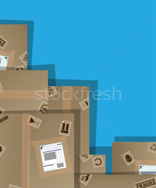 Pile of cardboard boxes Stock photo © lirch