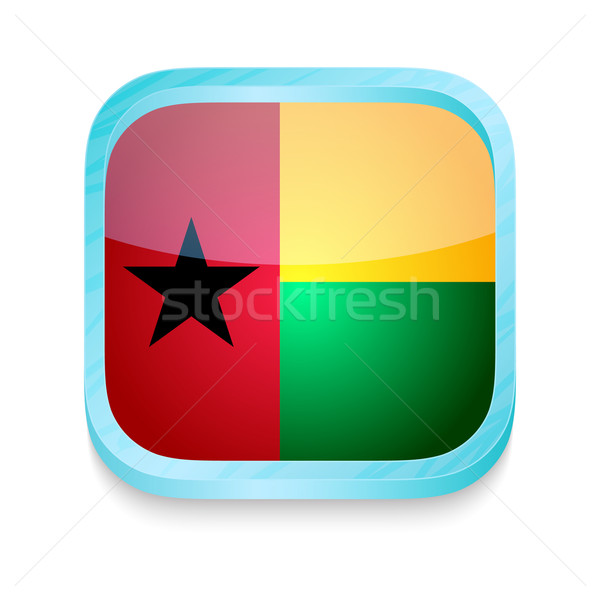 Smart phone button with Guineea Bissau flag Stock photo © lirch
