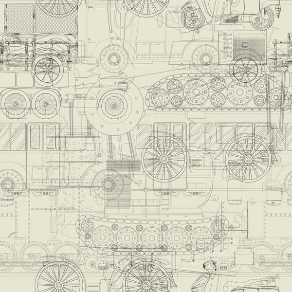 Seamless pattern vehicles design Stock photo © lirch