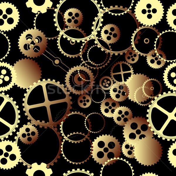 Clockwork gears pattern Stock photo © lirch