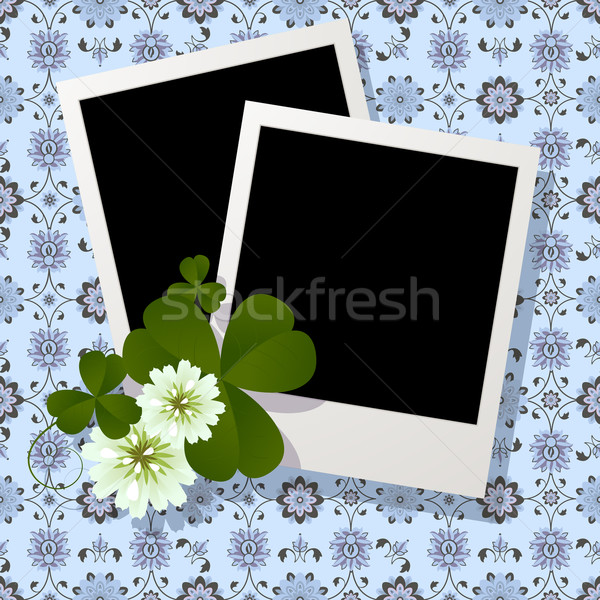 Clover leaf and flowers design Stock photo © lirch