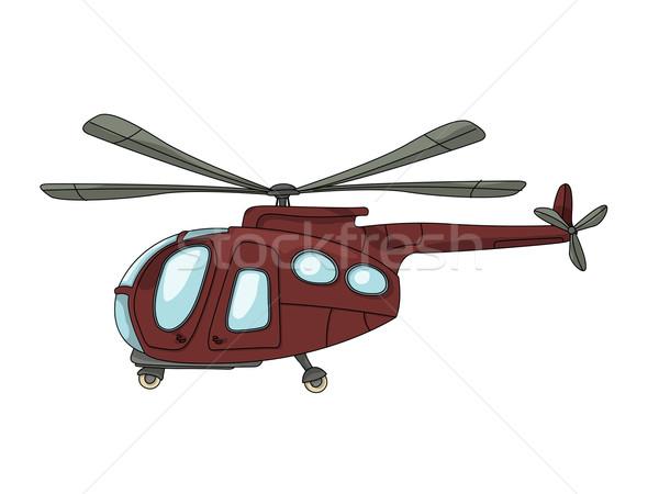 вертолета Cartoon рисунок белый дизайна самолет Сток-фото © lirch