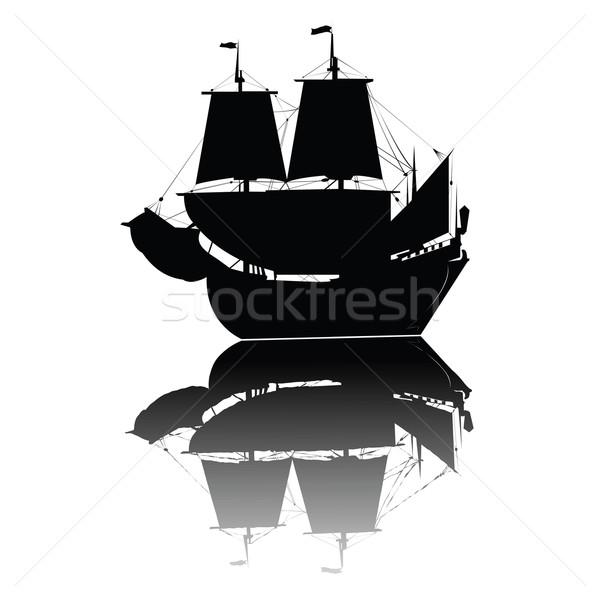 Vintage ship Stock photo © lirch