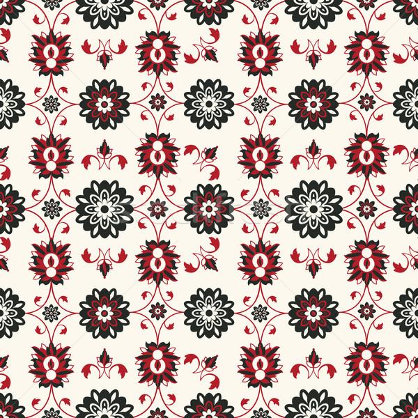 Seamless damask pattern Stock photo © lirch