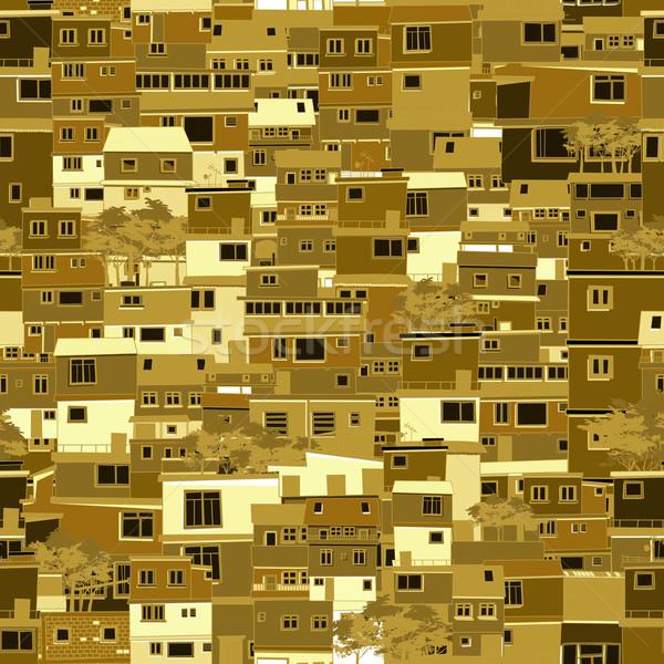 город шаблон бесшовный дерево стены Сток-фото © lirch