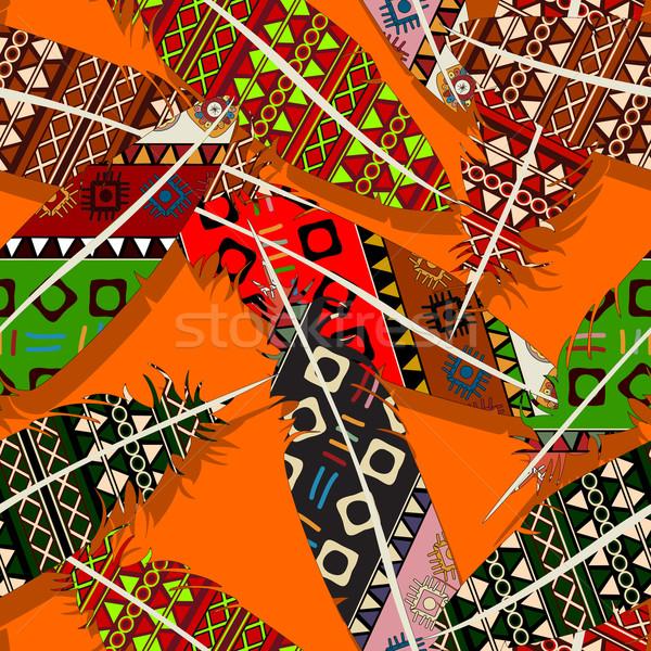 Ikat feather pattern 7 Stock photo © lirch
