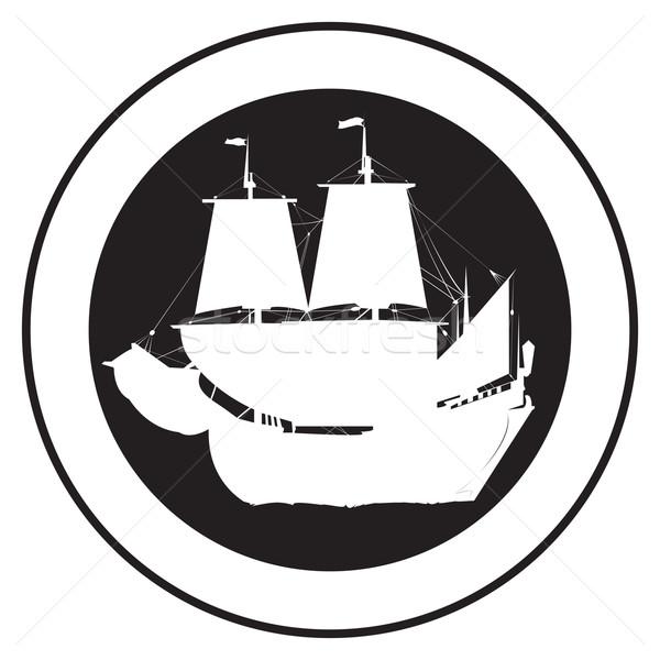 Emblem of an old ship 2 Stock photo © lirch