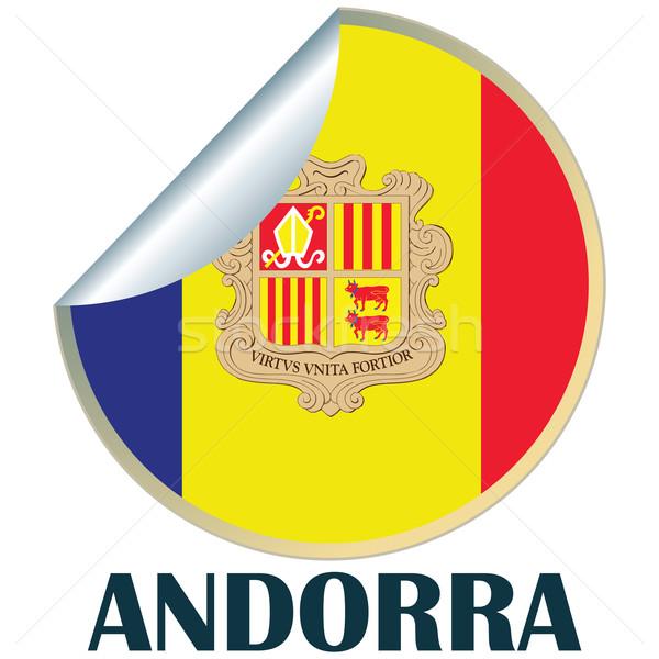 Andorra Aufkleber Flagge Design Zeichen Abzeichen Stock foto © lirch