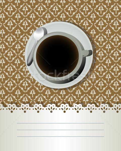 Stock photo: Coffee card