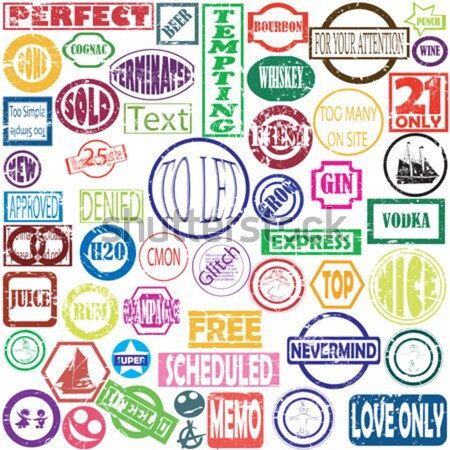 50 vector stamps in old ink colors Stock photo © lirch
