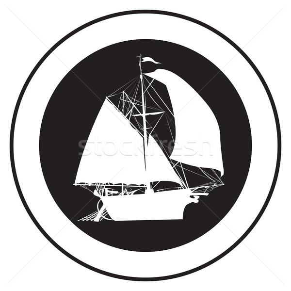 Emblem of an old ship Stock photo © lirch