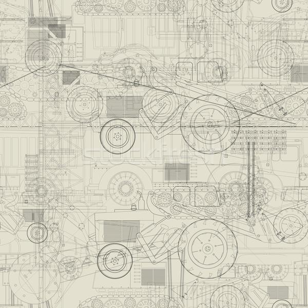 Industrial vehicles pattern Stock photo © lirch