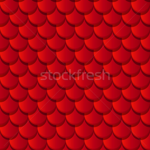 Red clay roof tiles Stock photo © lirch