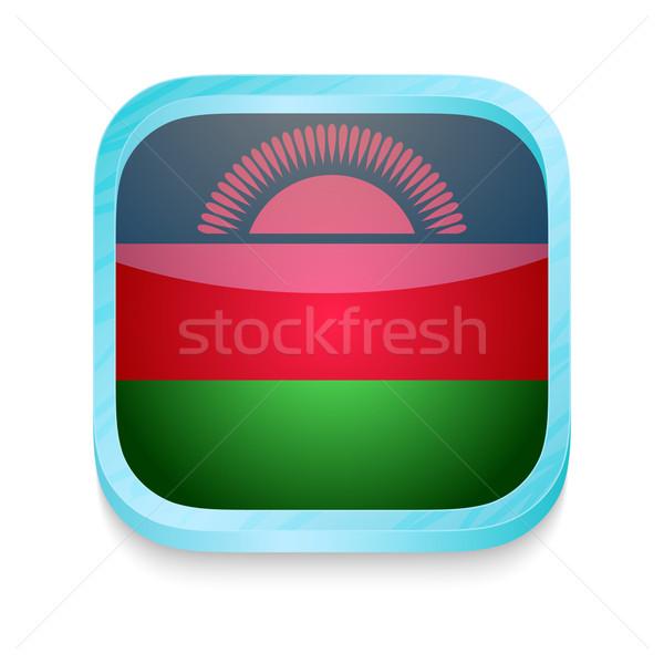 Knop Malawi vlag telefoon frame Stockfoto © lirch