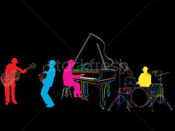 Stylized jazz band Stock photo © lirch