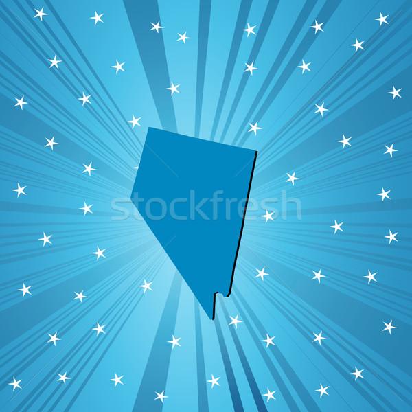 синий Невада карта аннотация Сток-фото © lirch