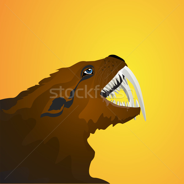 Sabretooth icon Stock photo © lirch