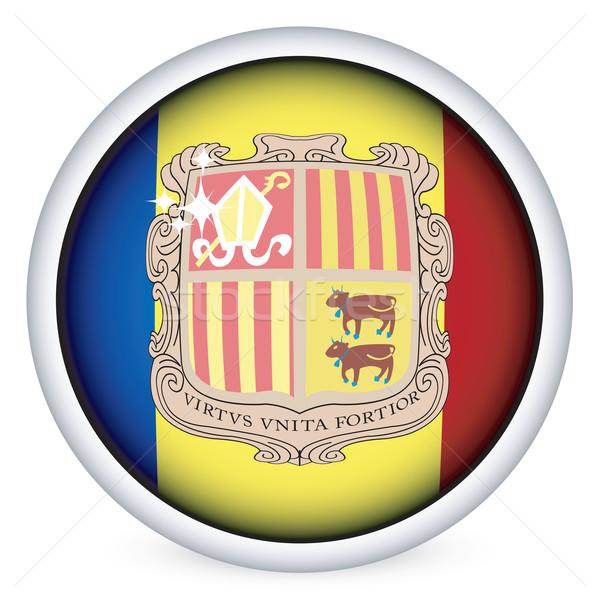 Andorra Flagge Taste Bereich isoliert Vektor Stock foto © lirch