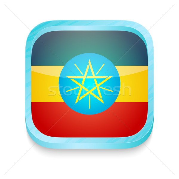 Smart phone button with Ethiopia flag Stock photo © lirch