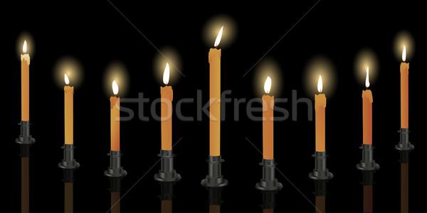 Nine candle menorah Stock photo © lirch