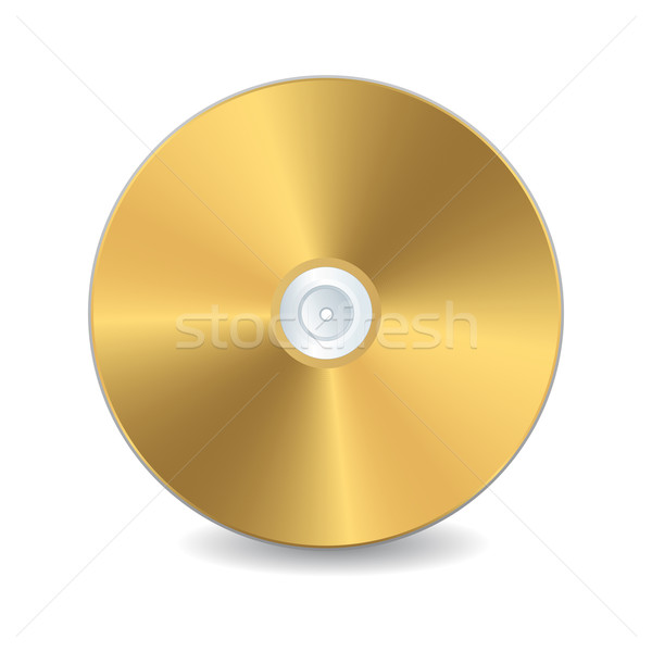 Golden compact disc Stock photo © lirch