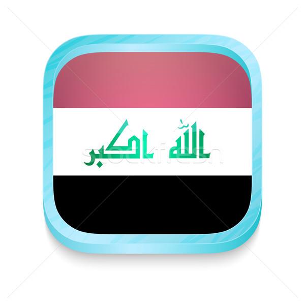 Botão Iraque bandeira telefone quadro Foto stock © lirch