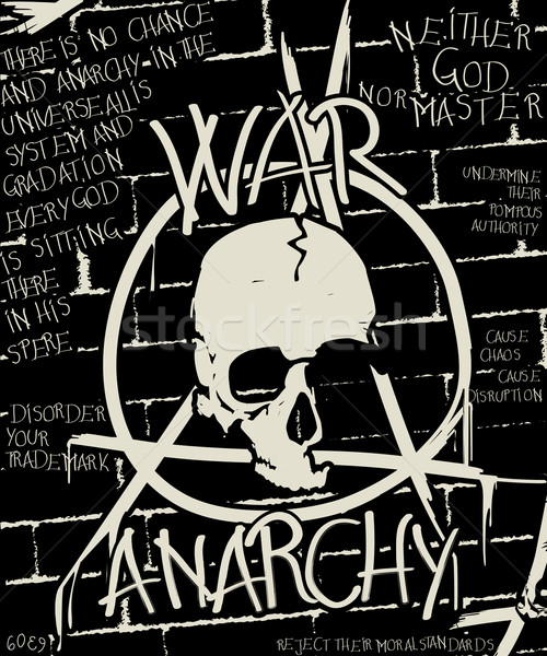 Guerra anarchia poster abstract grunge musica Foto d'archivio © lirch