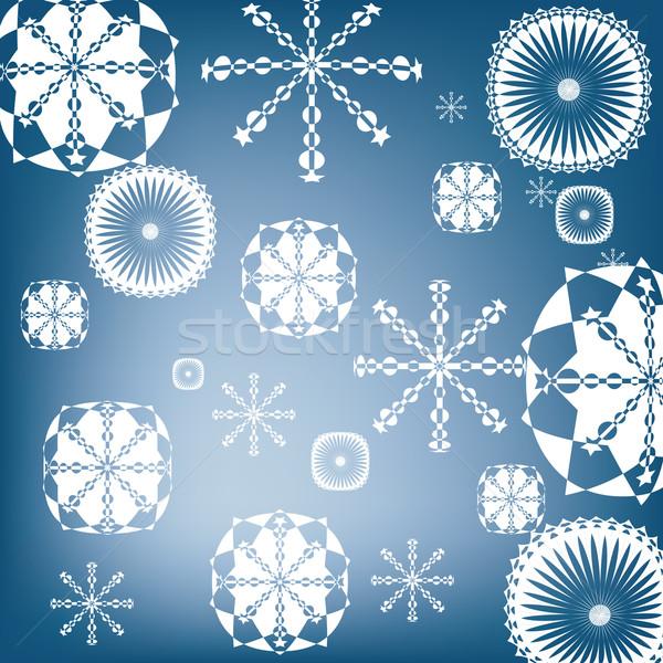 Nieve resumen naturaleza luz hielo Foto stock © lirch