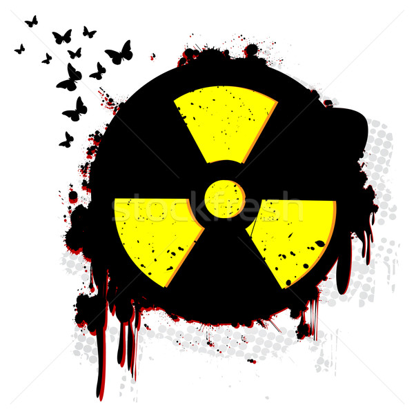 Nucleare grunge simbolo bianco texture tecnologia Foto d'archivio © lirch