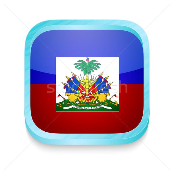 Düğme Haiti bayrak telefon cam Stok fotoğraf © lirch