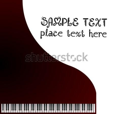 Hangversenyzongora szoba szöveg fa művészet zongora Stock fotó © lirch