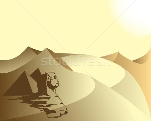 Egyiptom nap sír meleg Stock fotó © lirch