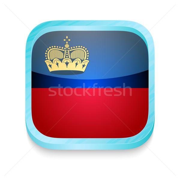 Smart phone button with Lichtenstein flag Stock photo © lirch
