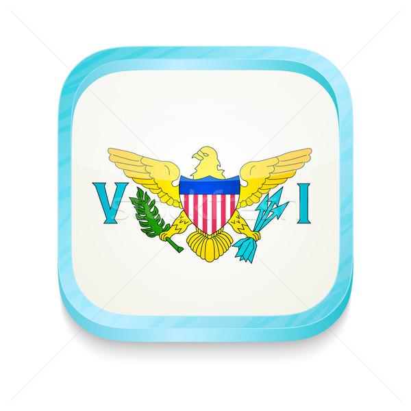 кнопки Соединенные Штаты Виргинские о-ва флаг телефон Сток-фото © lirch