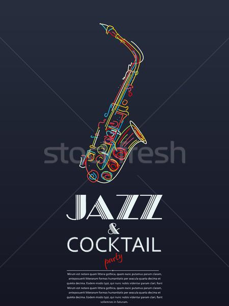 Jazz cocktail party poster texture design sfondo Foto d'archivio © lirch