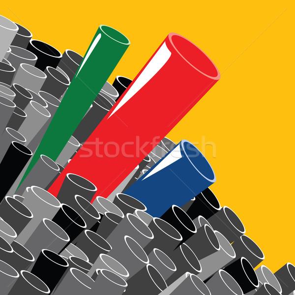 Teknoloji soyut sanayi endüstriyel siyah çelik Stok fotoğraf © lirch