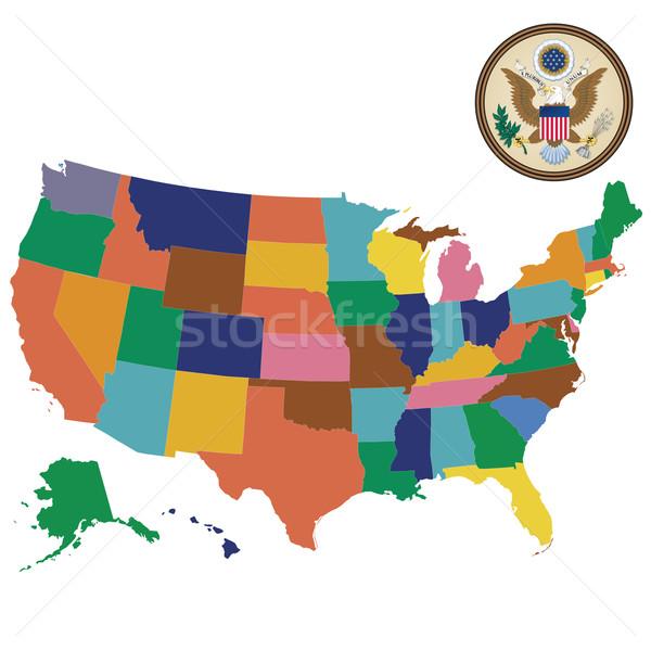 Stati Uniti america mappa USA città Foto d'archivio © lirch
