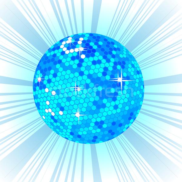Stockfoto: Blauw · disco · ball · retro · partij · dans · licht